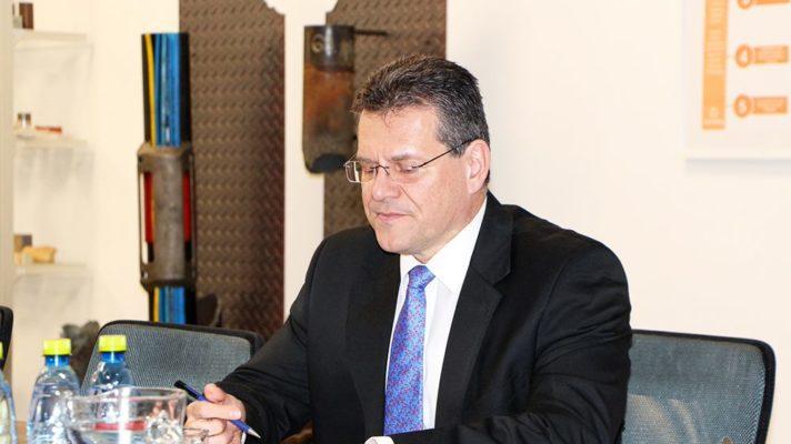 Maros Sefcovic in GA Drilling
